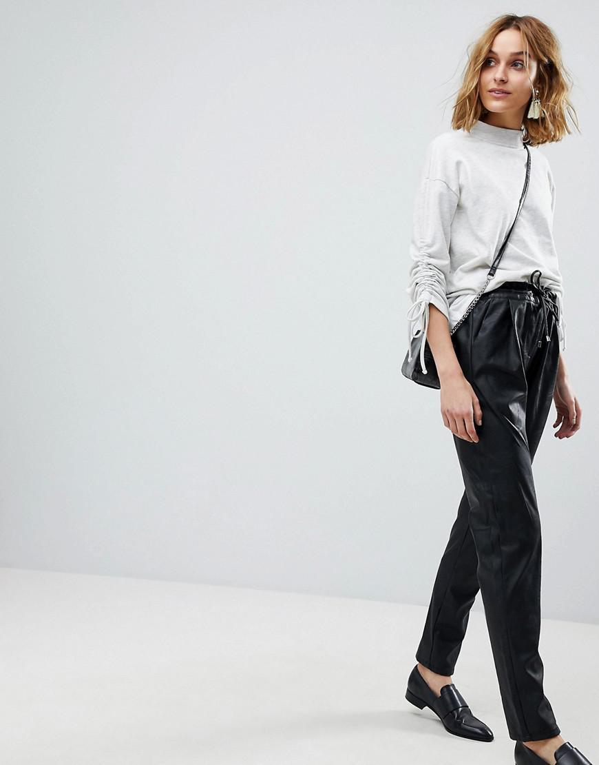 Coloris Carotte En Moda Vero Pantalon Lyst Noir Similicuir n1q58pEY 6f9d53850f7