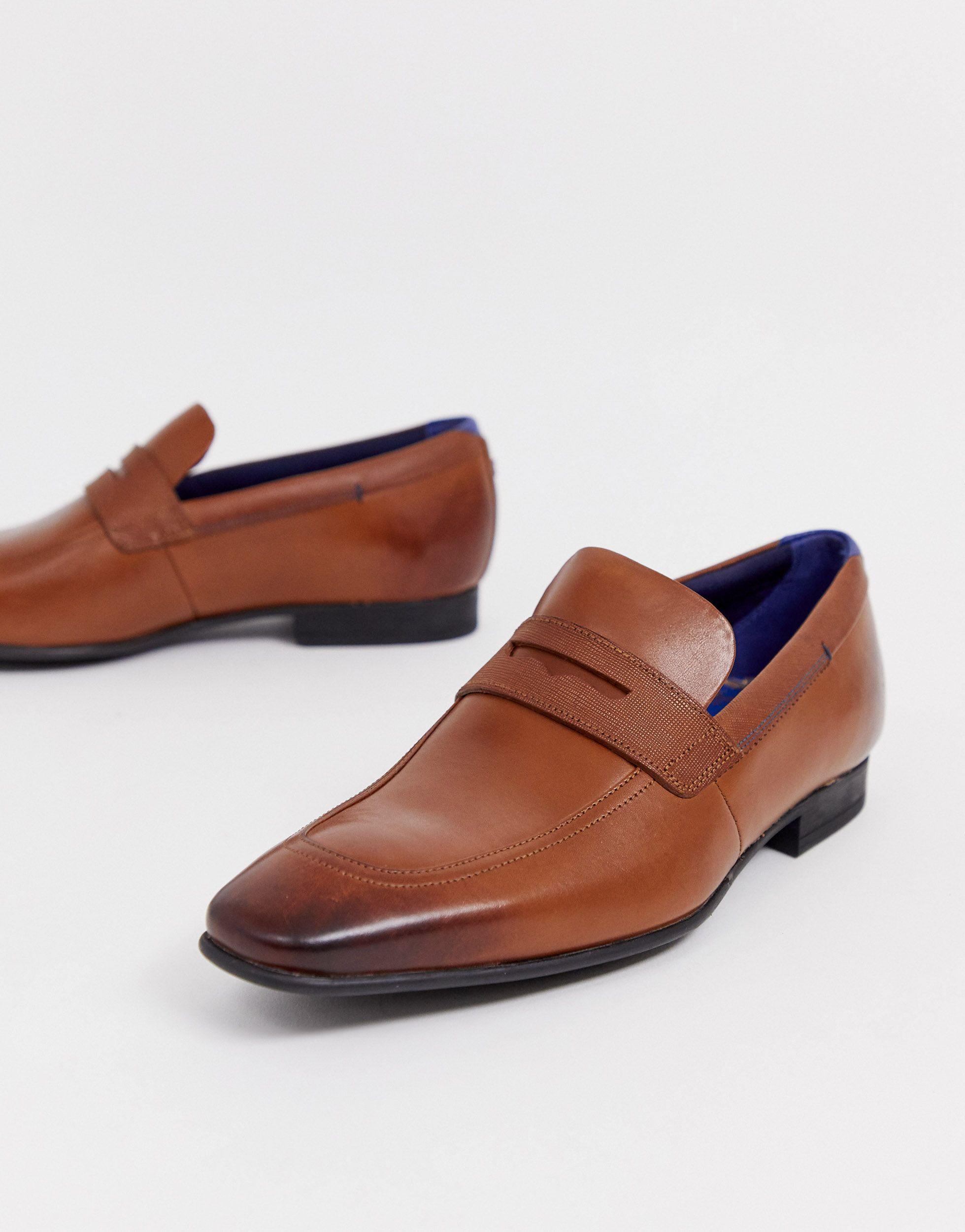 Ted Baker Denim Gaelah - Loafers in het Bruin voor heren