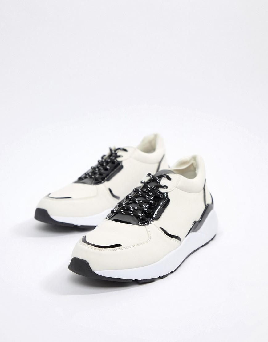 Blink Chunky Lace Up Sneakers in White