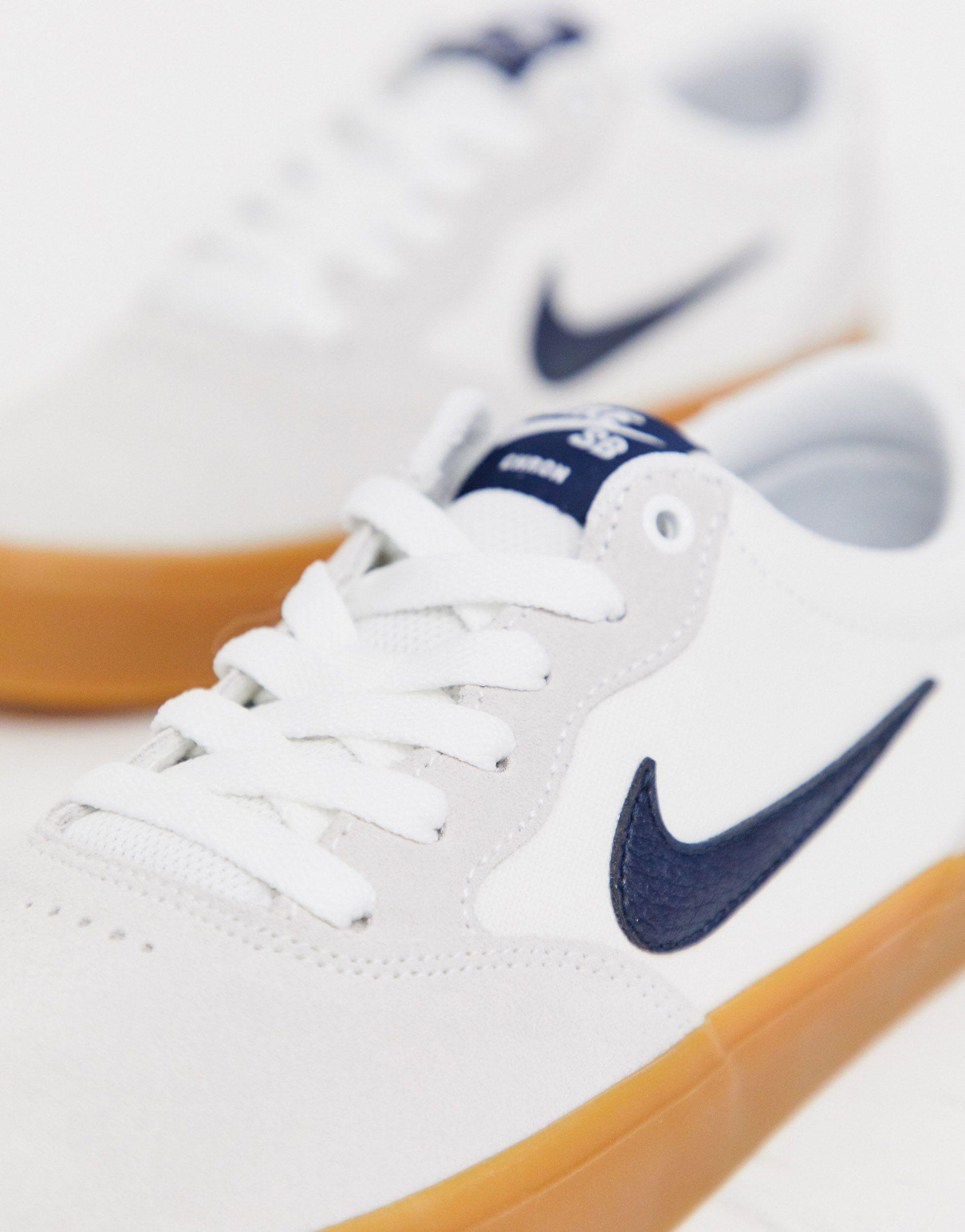 Nike Canvas Chron Solarsoft Trainers in White for Men - Lyst