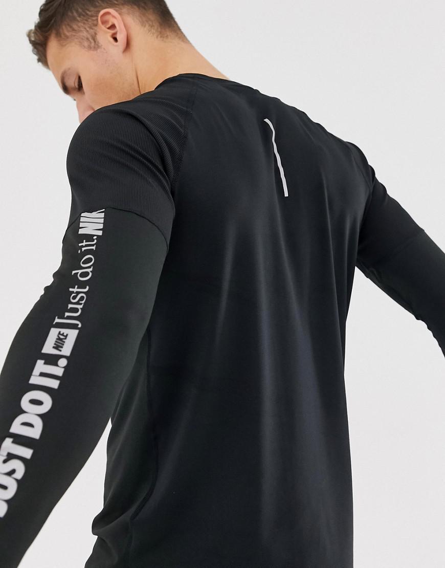 63ad7eae2 Nike Just Do It Long Sleeve Top In Black Aj6623-010 in Black for Men - Lyst