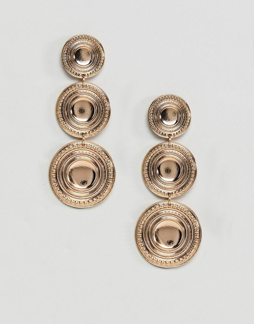 DESIGN Coin Strand Earrings - Mixed metal Asos WMATA5Tq