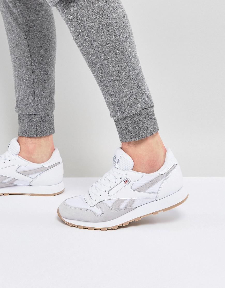 Classic Leather Essential Trainers In White BS9718 - White Reebok kcQW6Pp4