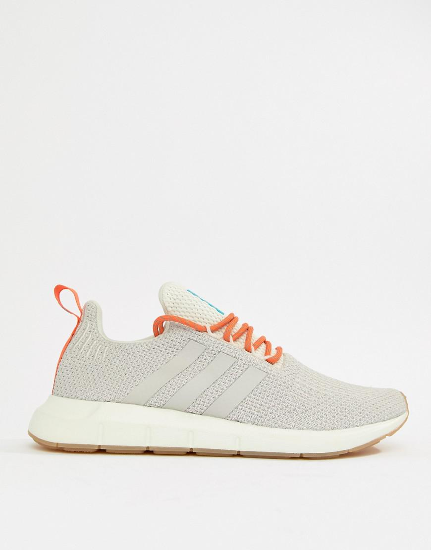 ef6966f0c008f Lyst - adidas Originals Swift Run Summer Sneakers In White Cq3085 in ...