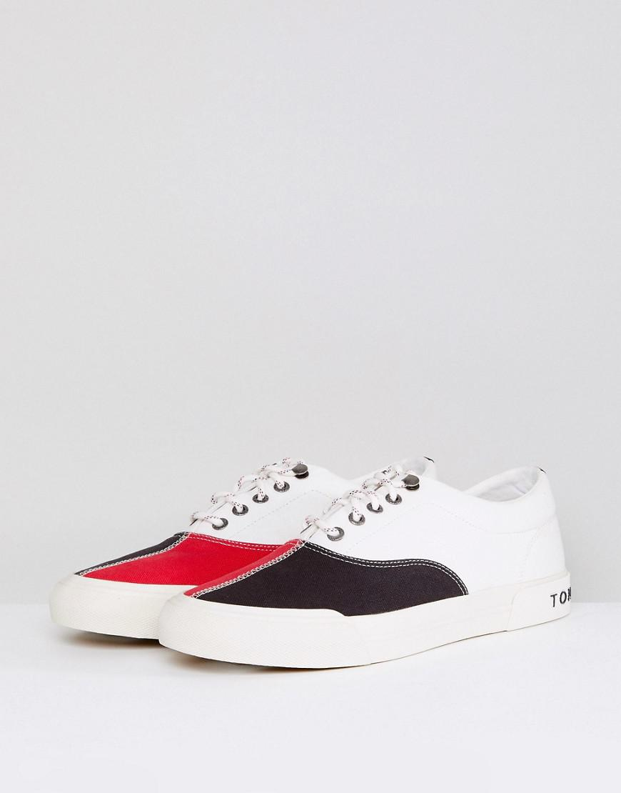 Tommy Hilfiger Yarmouth Icon Color Block Canvas Sneakers in c1LZZ0o5J8