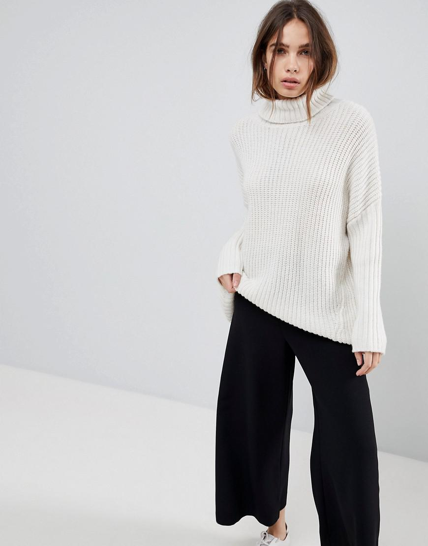 267cced8aeb1 Weekday Turtleneck Fluffy Knit Sweater - Lyst