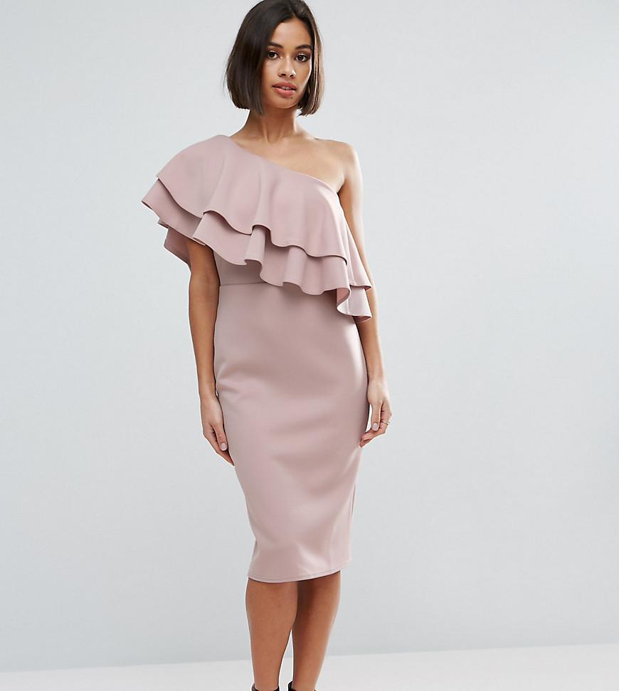 Dress bodycon bottom dress in ruffle with
