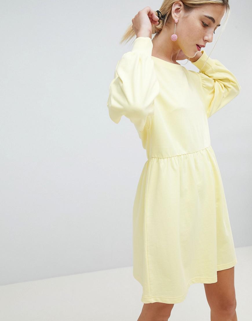 5580d14b67b Lyst - Chorus Balloon Sleeve Smock Sweat Dress in Yellow