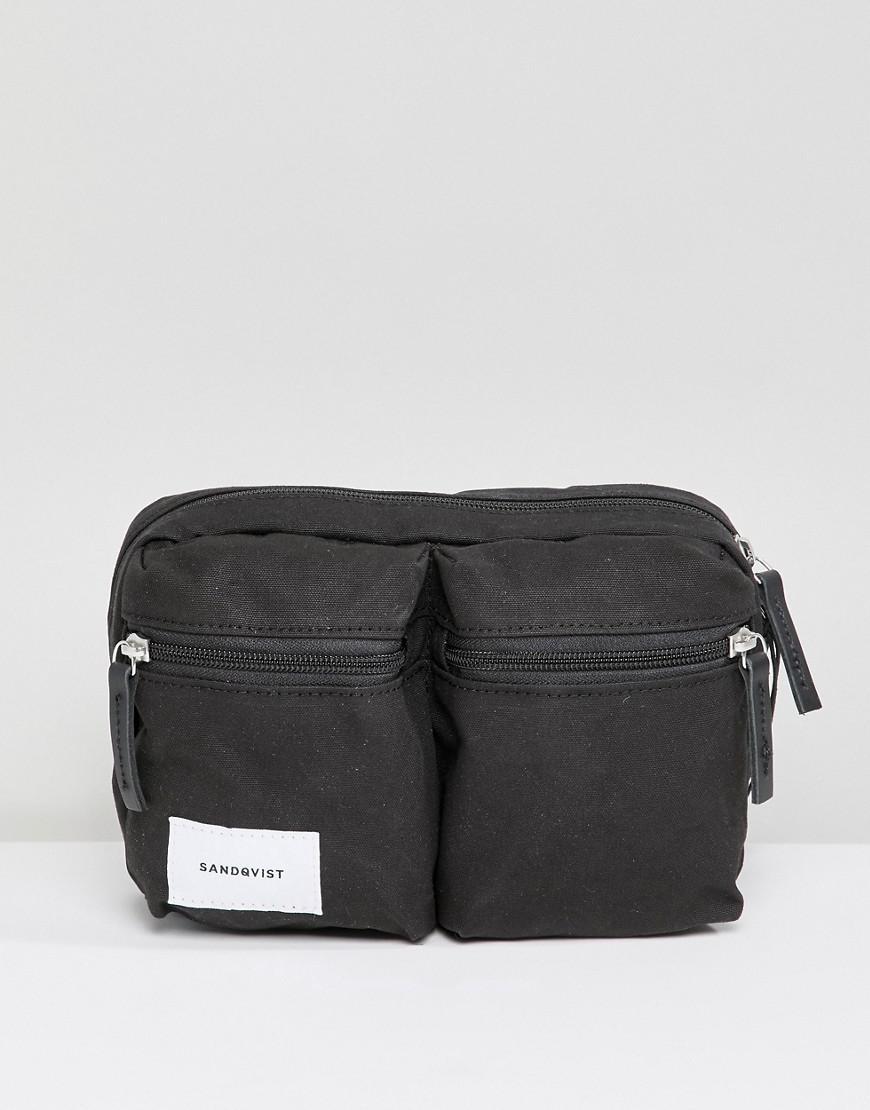 Lyst - Sandqvist Paul Bum Bag In Black in Black for Men b7c49ab015c0c