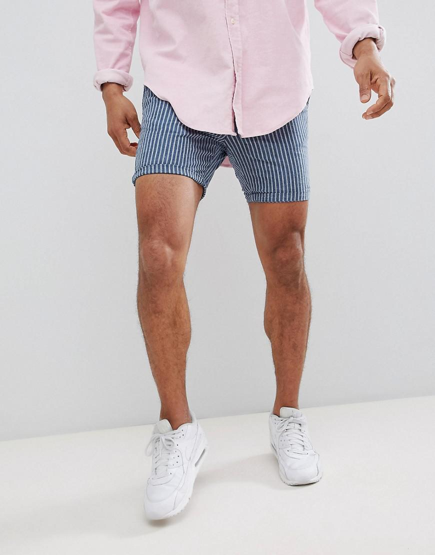 Mens Grand Et Grand Bleu Slim Fit Oxford Short Île Fluviale kEHxH