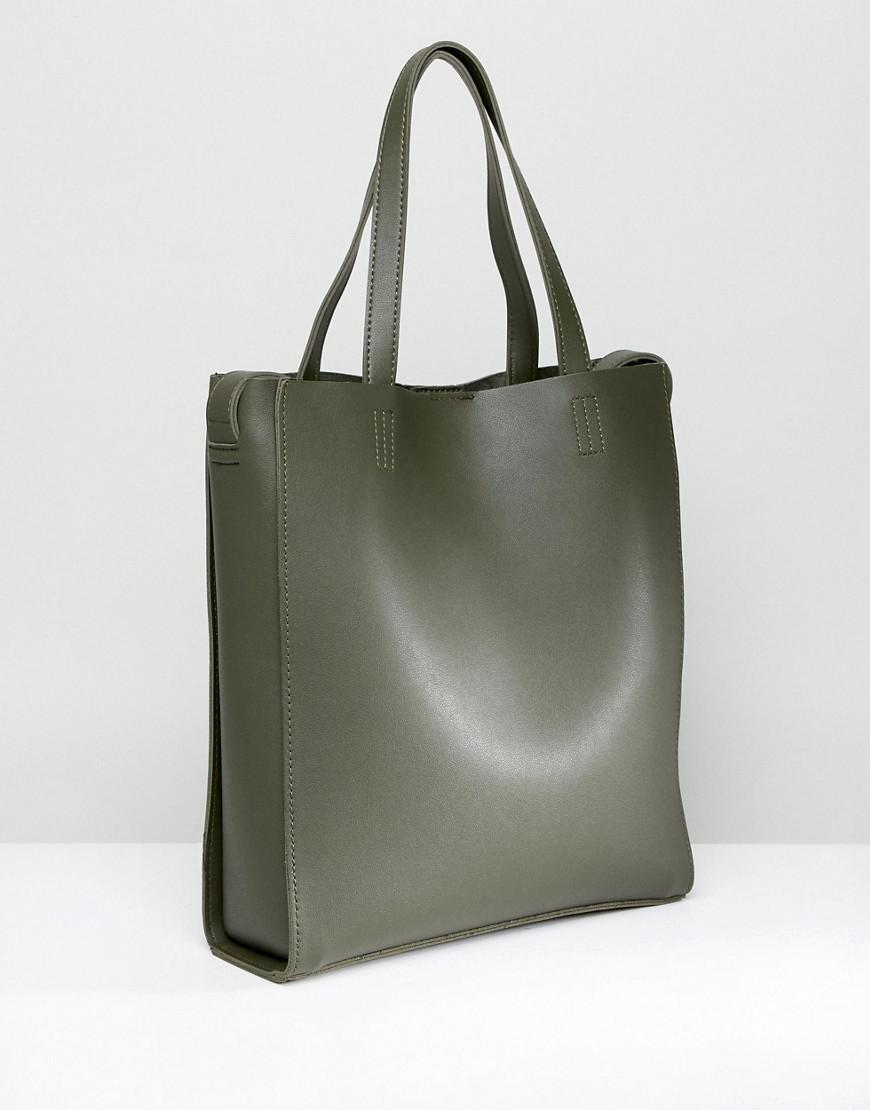 Claudia Canova Unlined Single Pocket Tote Bag in Green