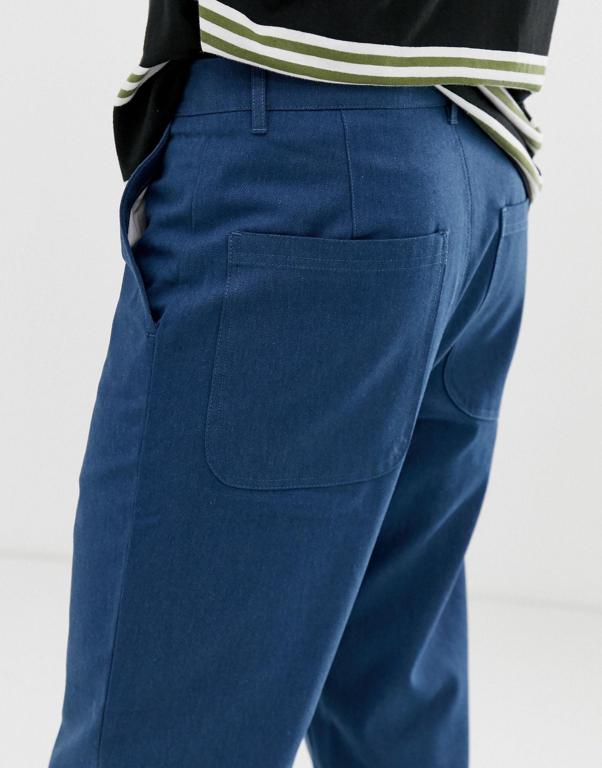 Farah Canvas Hawtin - Cropped Broek in het Blauw voor heren