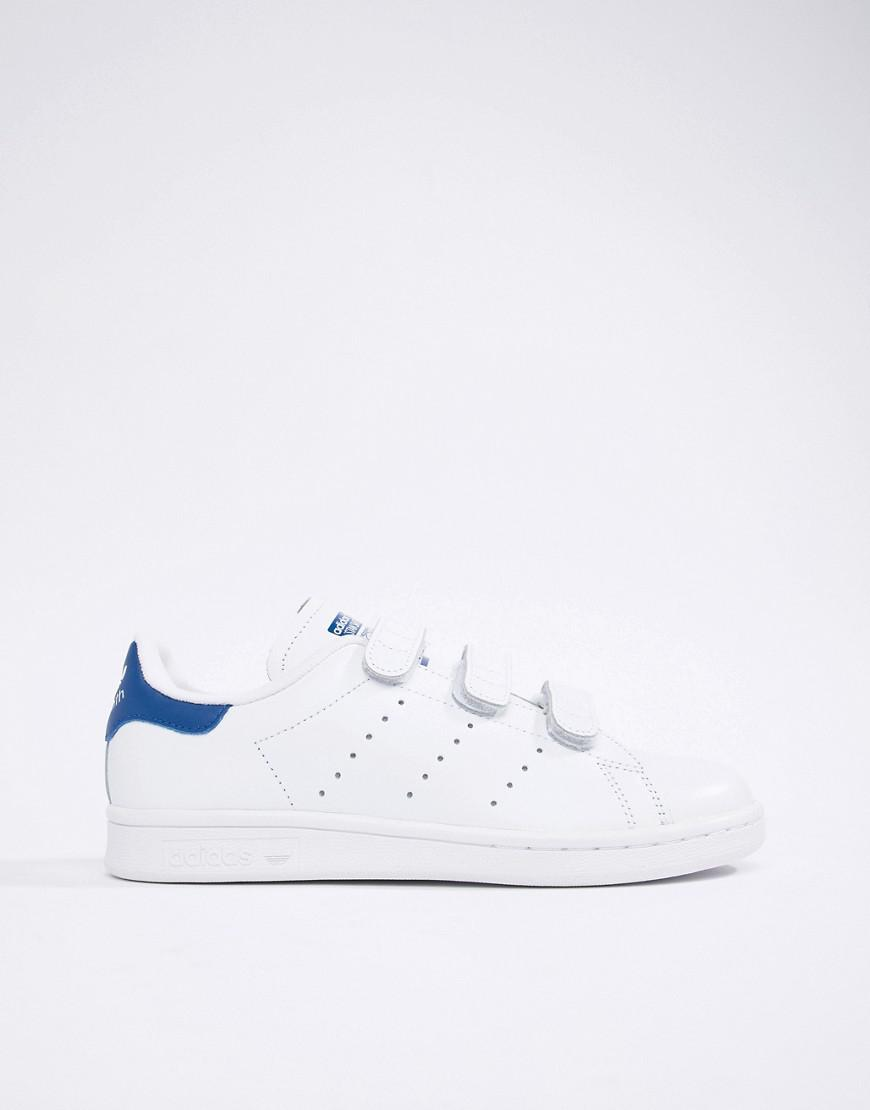 online store 62b0f 759bf adidas Originals Stan Smith Velcro Sneakers In White And ...