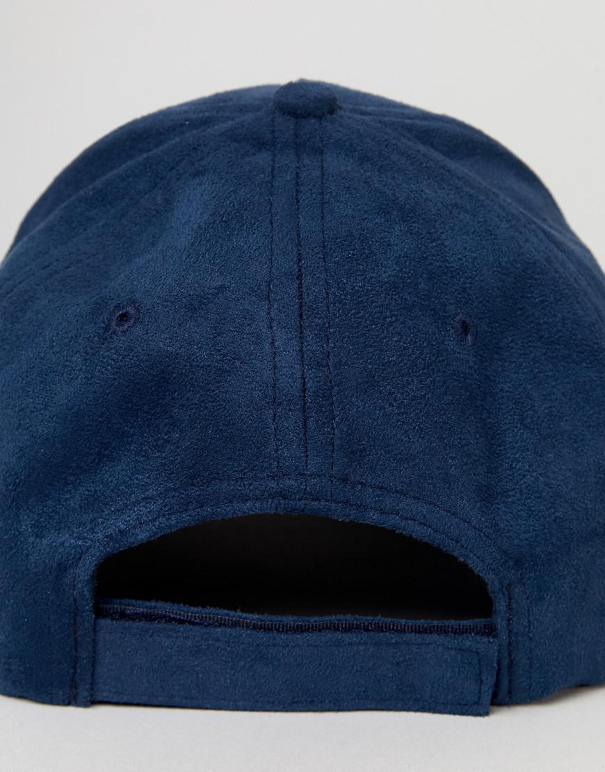 Suedette Baseball Cap - Blue French Connection PBGDuwz