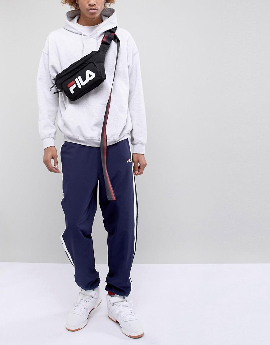 40cf5e8691 D-ANTIDOTE X Fila Oversized Bumbag With Taping in Black for Men - Lyst