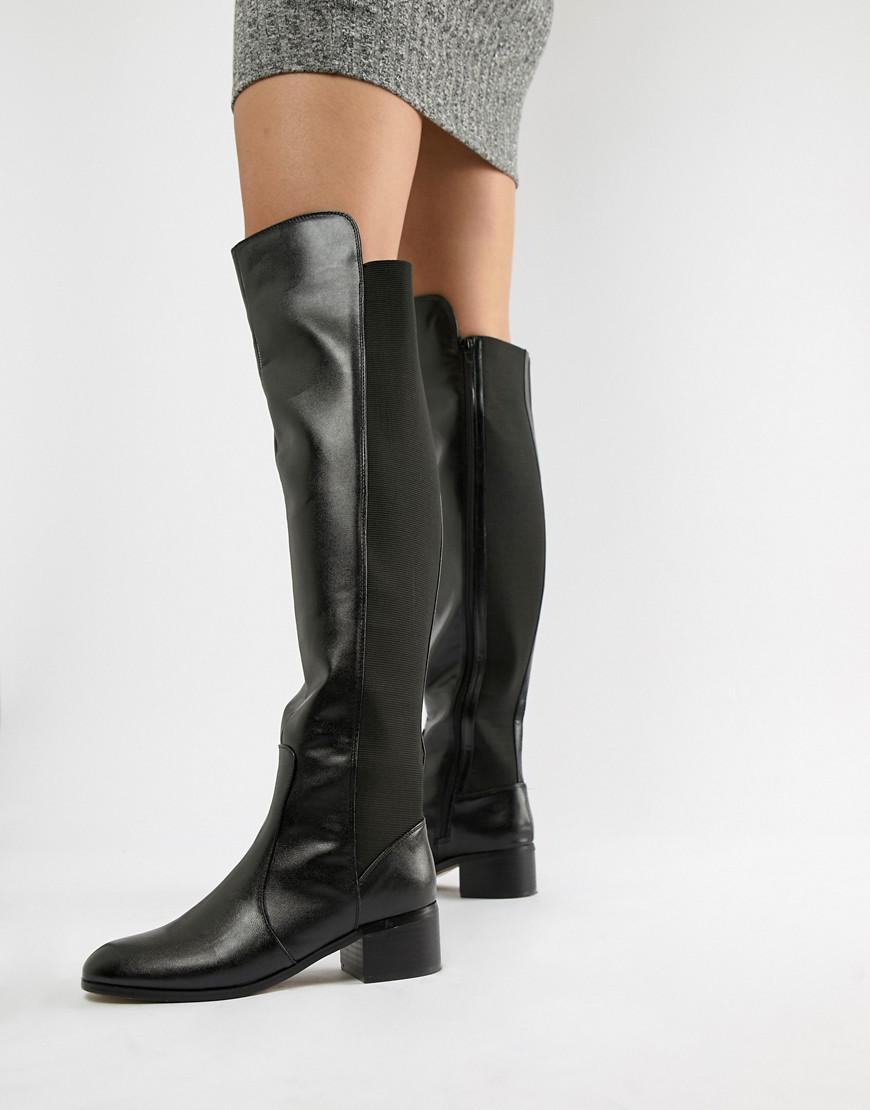 99b39375b426 London Rebel Over Knee Riding Boot in Black - Lyst