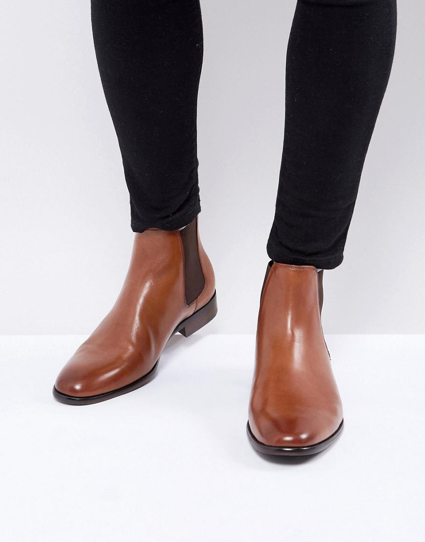 Aldo Aradowen Leather Chelsea Boots In Tan In Brown For