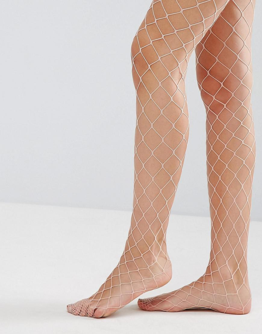 aa7e71e8f705b ASOS Asos Oversized Fishnet Tights In Pink in Pink - Lyst
