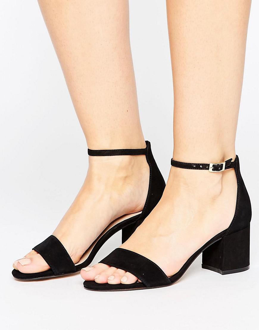 67379273c266 ALDO Villarosa Leather Block Heel Sandals in Black - Lyst
