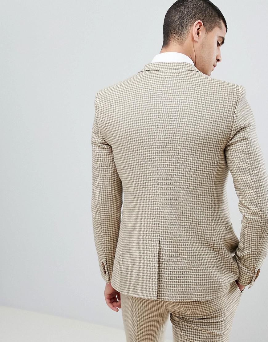 Lyst - Veste de costume super ajuste motif pied-de-poule ASOS pour homme en  coloris Neutre 3bf47490ff2