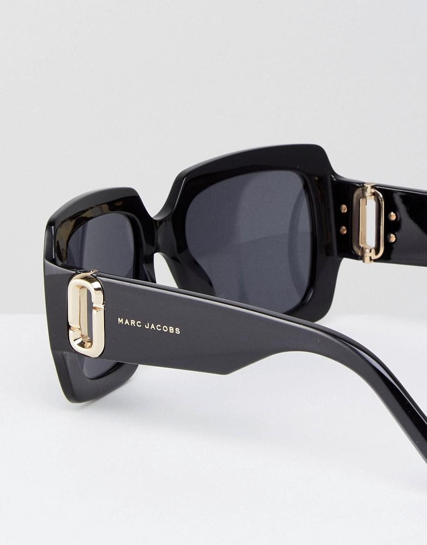 93ca516d042d Marc Jacobs Square Chunky Frame Sunglasses in Black - Lyst