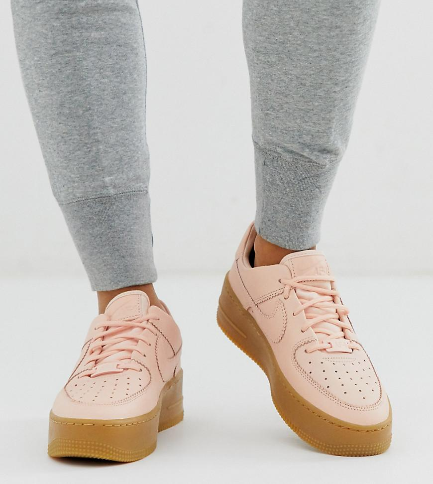 Pink Sneakers Air Low Gum Sole Force 1 Sage Pale Women's 5RjLA34