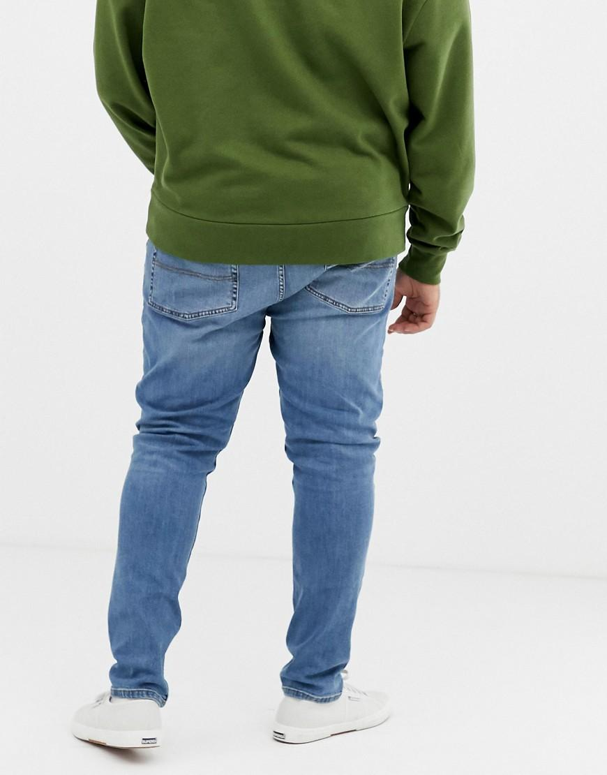 b667be7542a Lyst - Collusion Plus X001 Skinny Jeans In Blue Mid Wash in Blue for Men