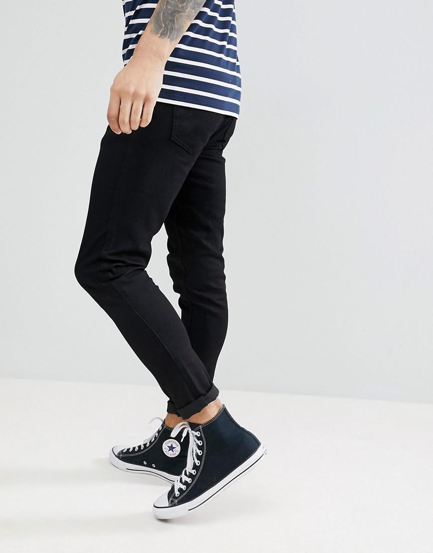 Farah Denim Howells Super Slim Fit Jeans In Black for Men