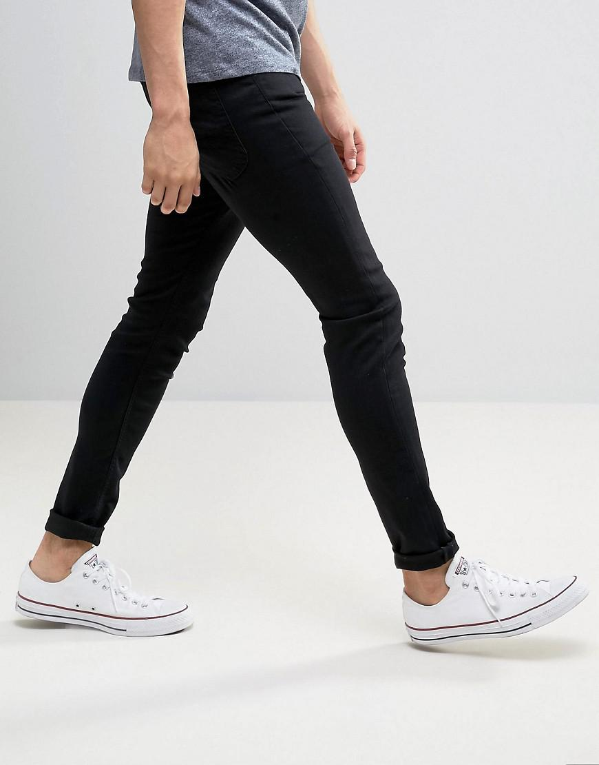 Lee Jeans Denim Spray On Power Stretch Jeans Black Wash Exclusive for Men
