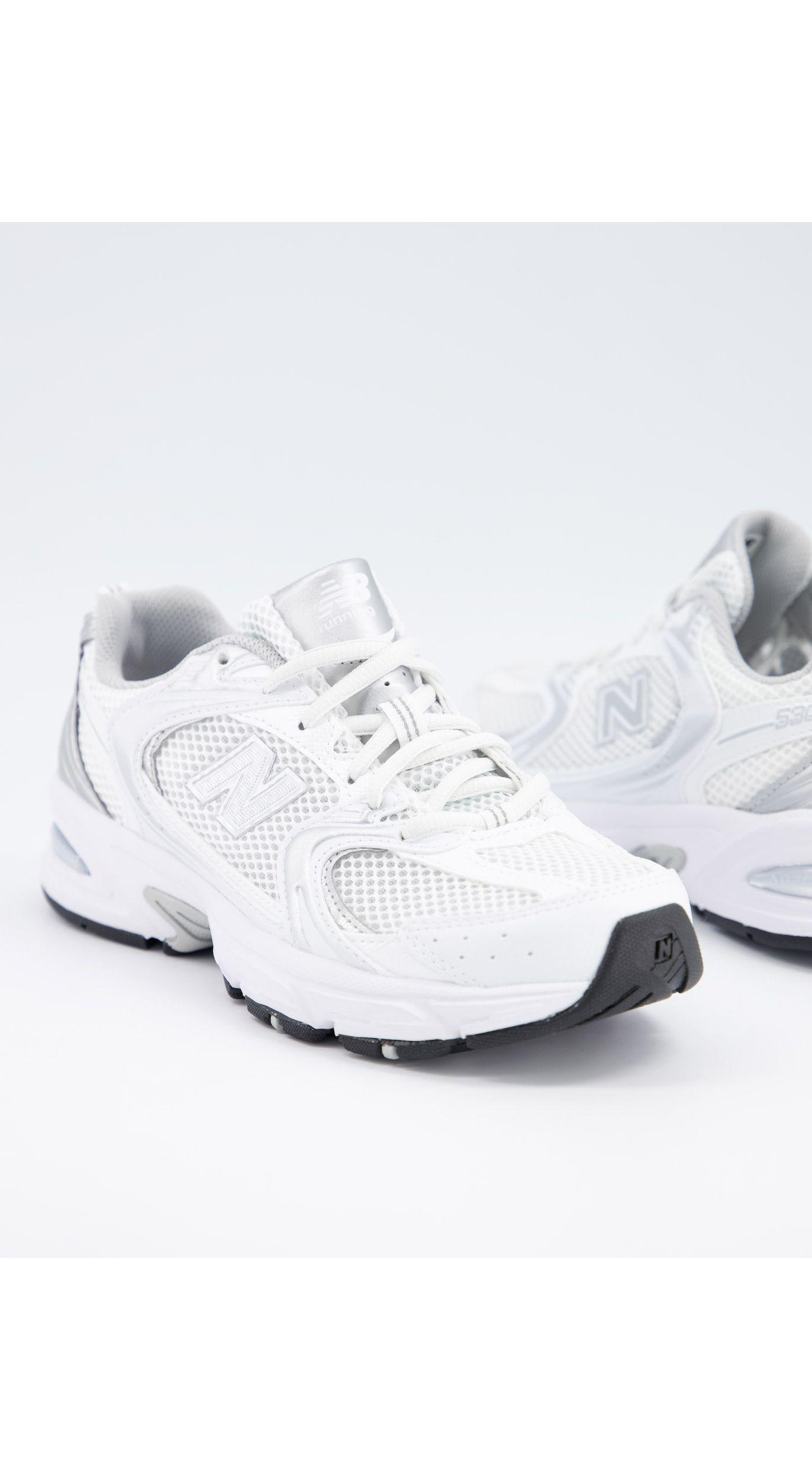 New Balance Rubber 530 Metallic Trainers in White - Lyst