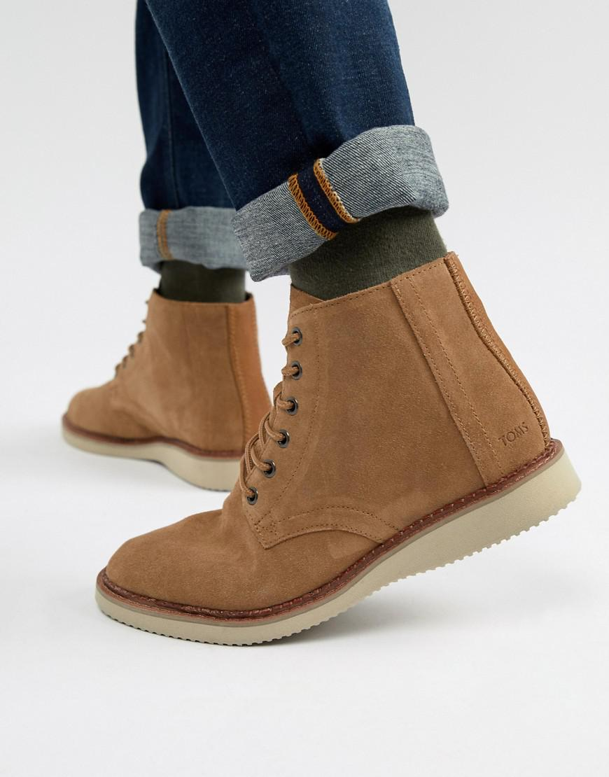 5d78a730506 TOMS Porter Water Resistant Lace Up Boots In Brown for Men - Lyst
