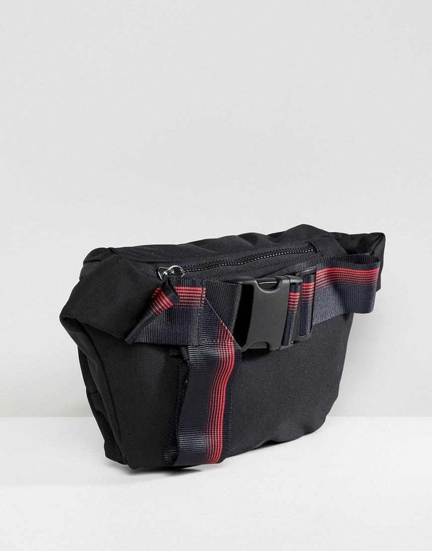 3adfb429ac Lyst - D-ANTIDOTE X Fila Oversized Bumbag With Taping in Black for Men