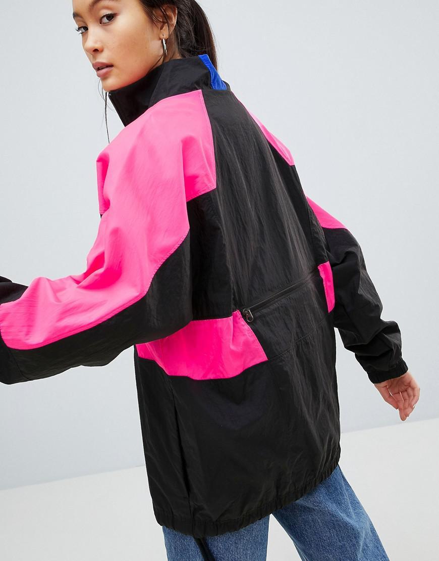 4dd3e8698b5f Nike Vaporwave Oversized Wave Half Zip Track Jacket In Black With ...