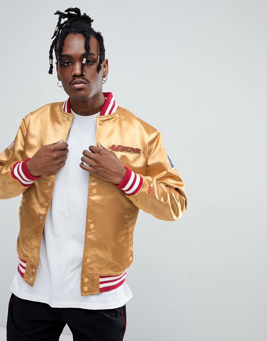 93ffc869 KTZ Nfl San Francisco 49ers Sateen Bomber Jacket In Gold in Yellow ...