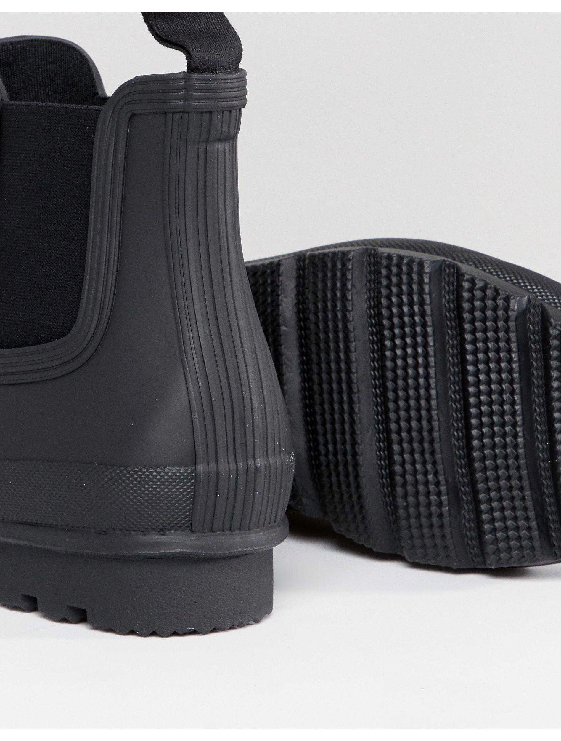 HUNTER Rubber Original - Chelsea Boots in het Zwart voor heren