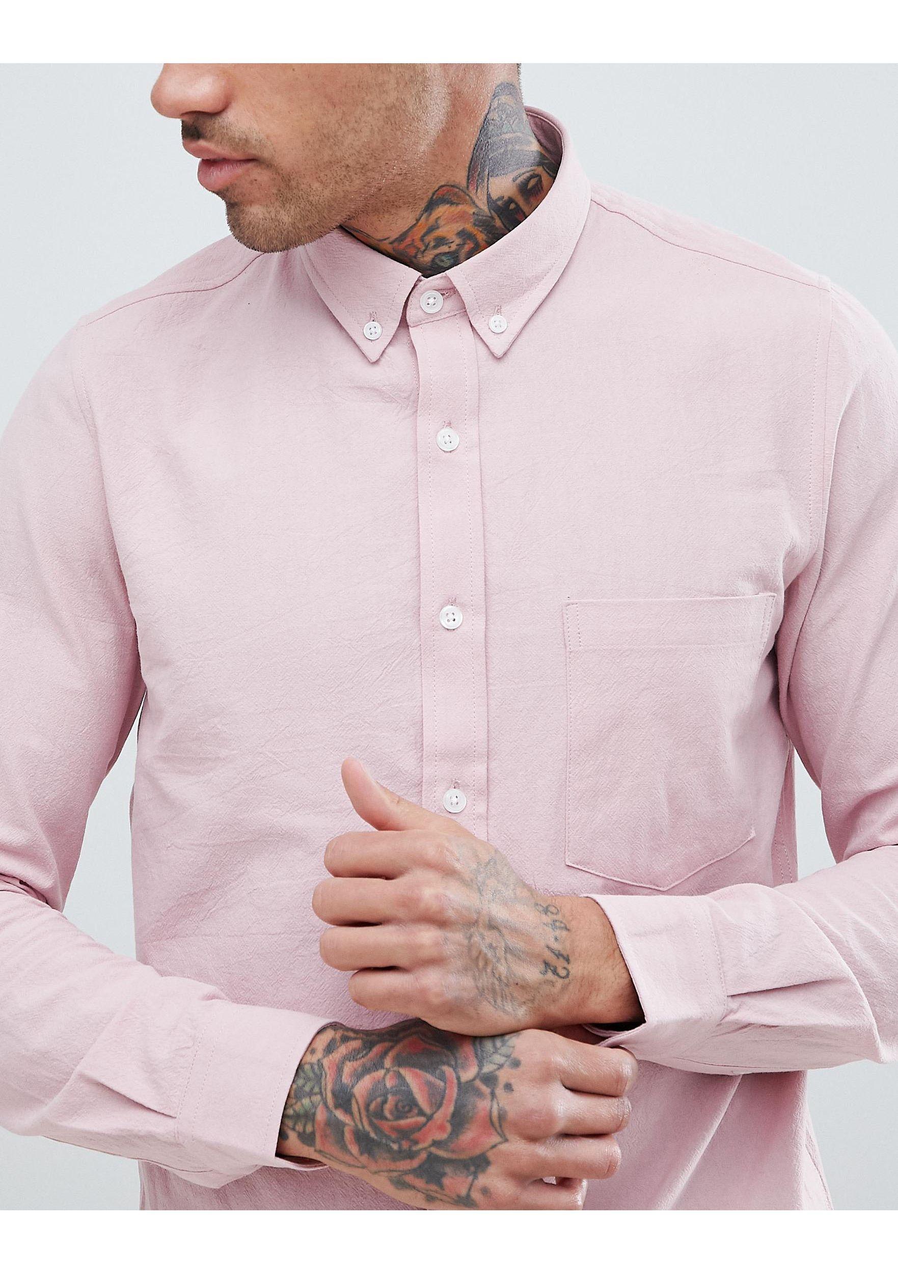 Just Junkies Katoen Overhemd Met Lange Mouwen in het Roze voor heren