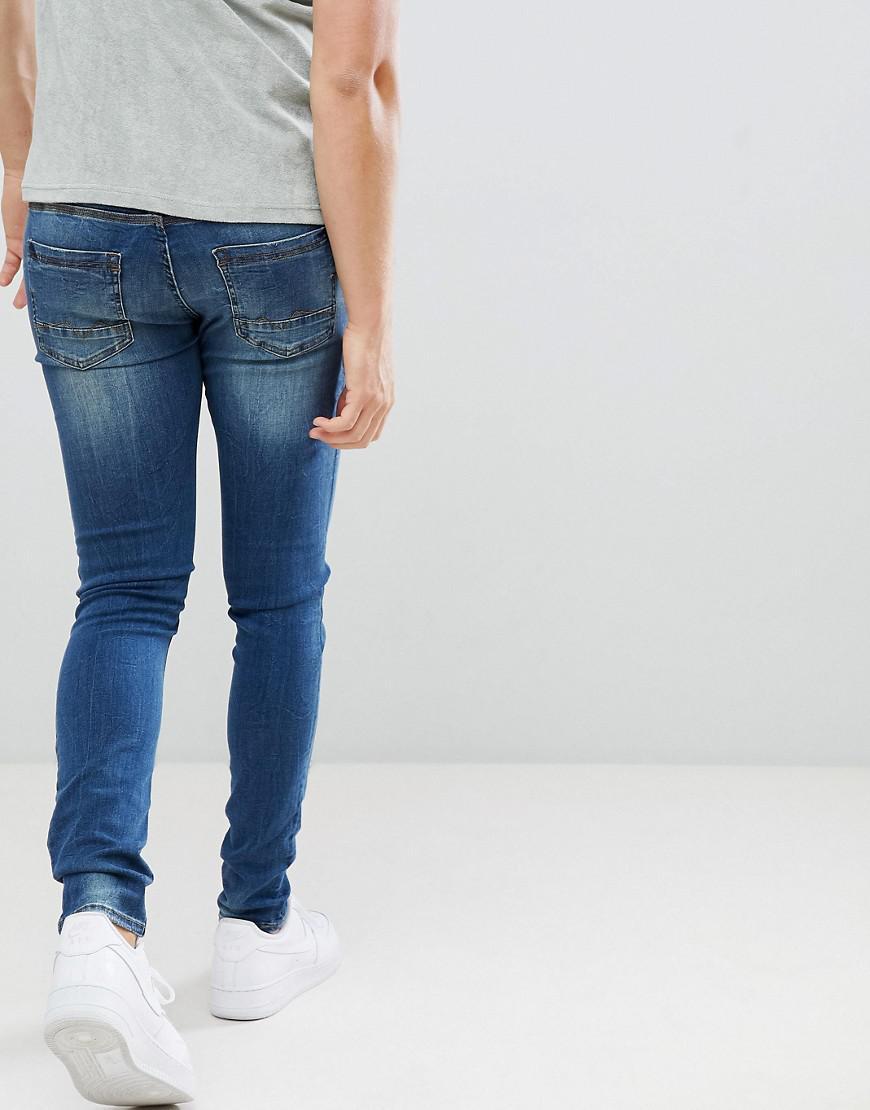 Blend Denim Distressed Super Skinny Jeans in Blue for Men