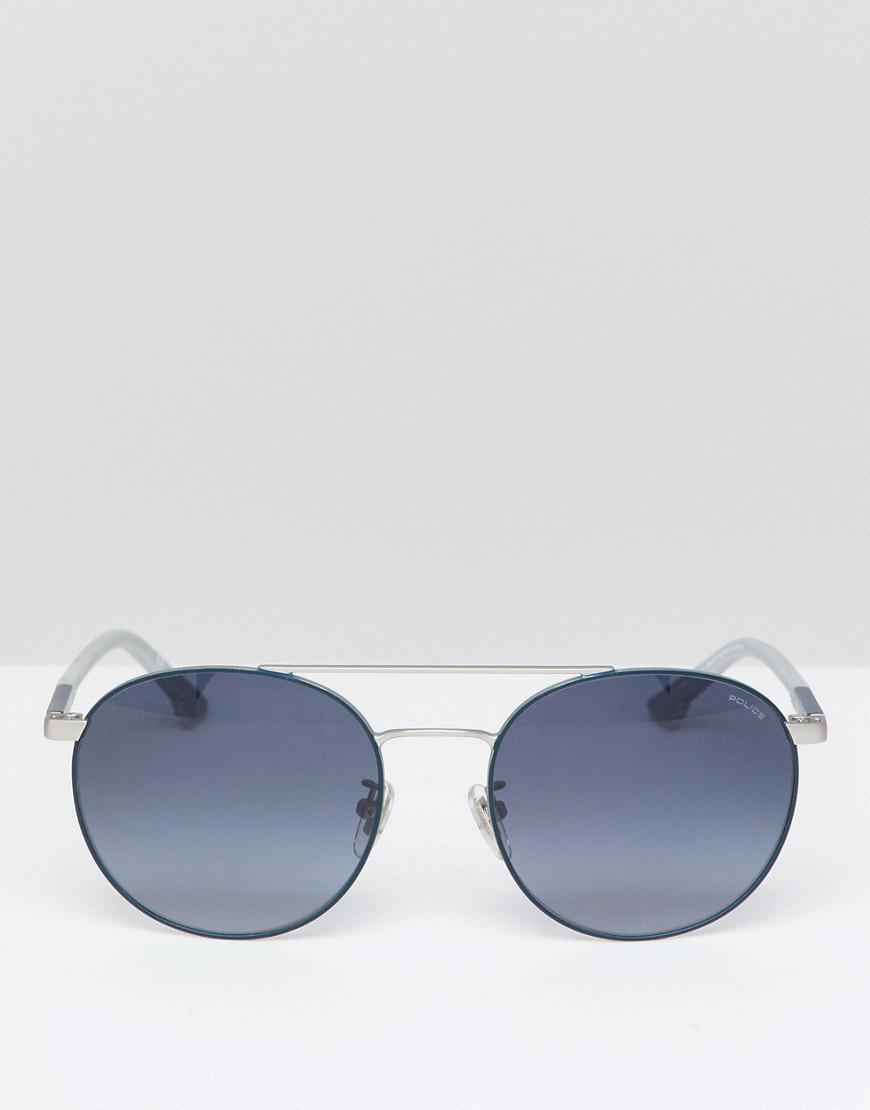 d0bf1d60b1 Police - Metallic Round Sunglasses In Gunmetal for Men - Lyst. View  fullscreen
