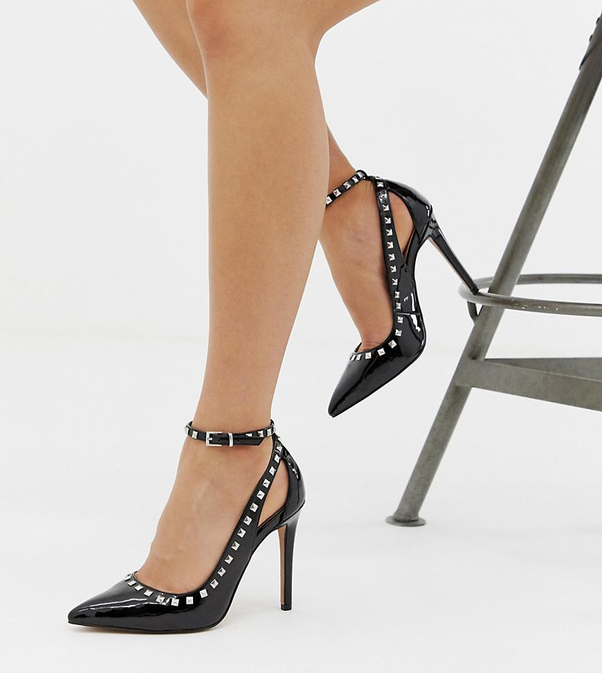 4cd5a659171 Lyst - ASOS Persuade Studded Pointed High Heels in Black