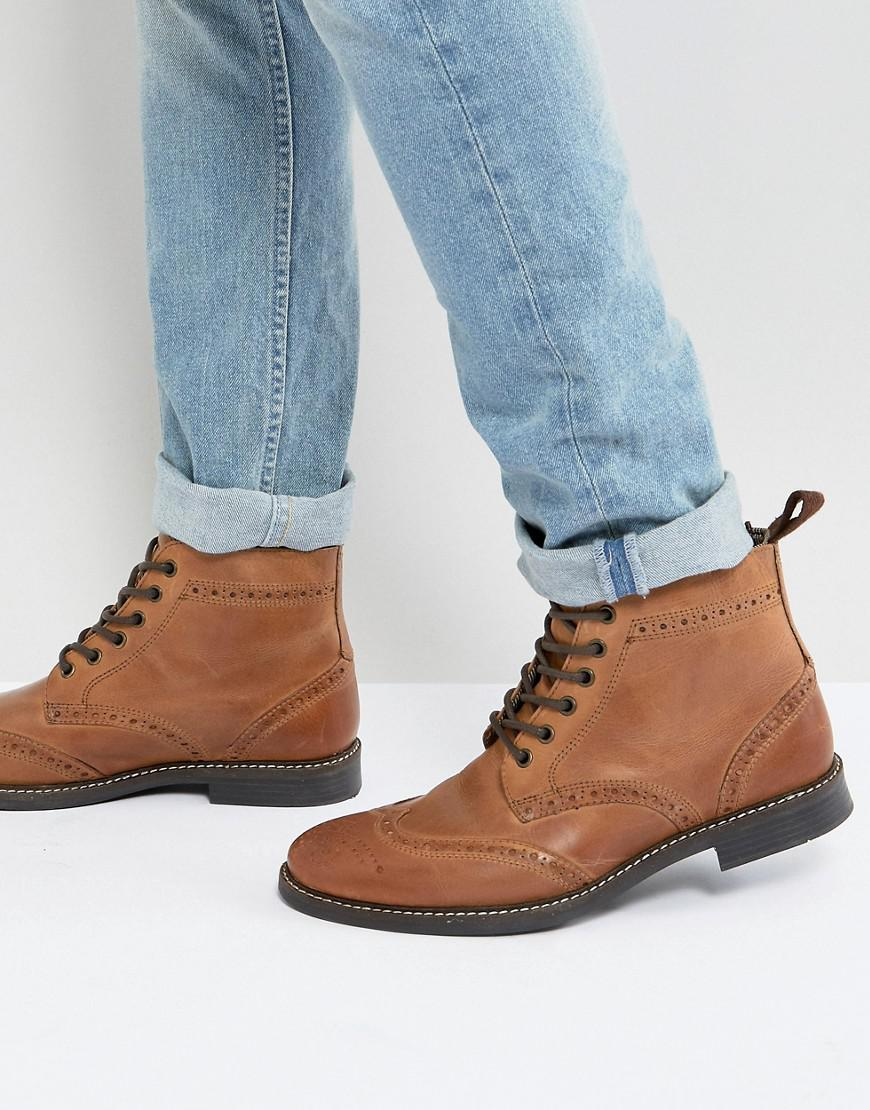 13ceb5ae18d Men's Brogue Boots - Brown
