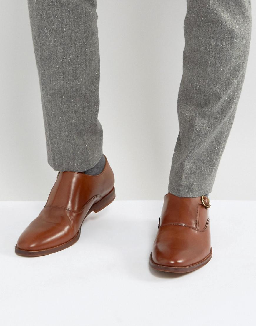 Aldo Chaussures Moine En Cuir Catallo En Tan Tan - 8ctTH3
