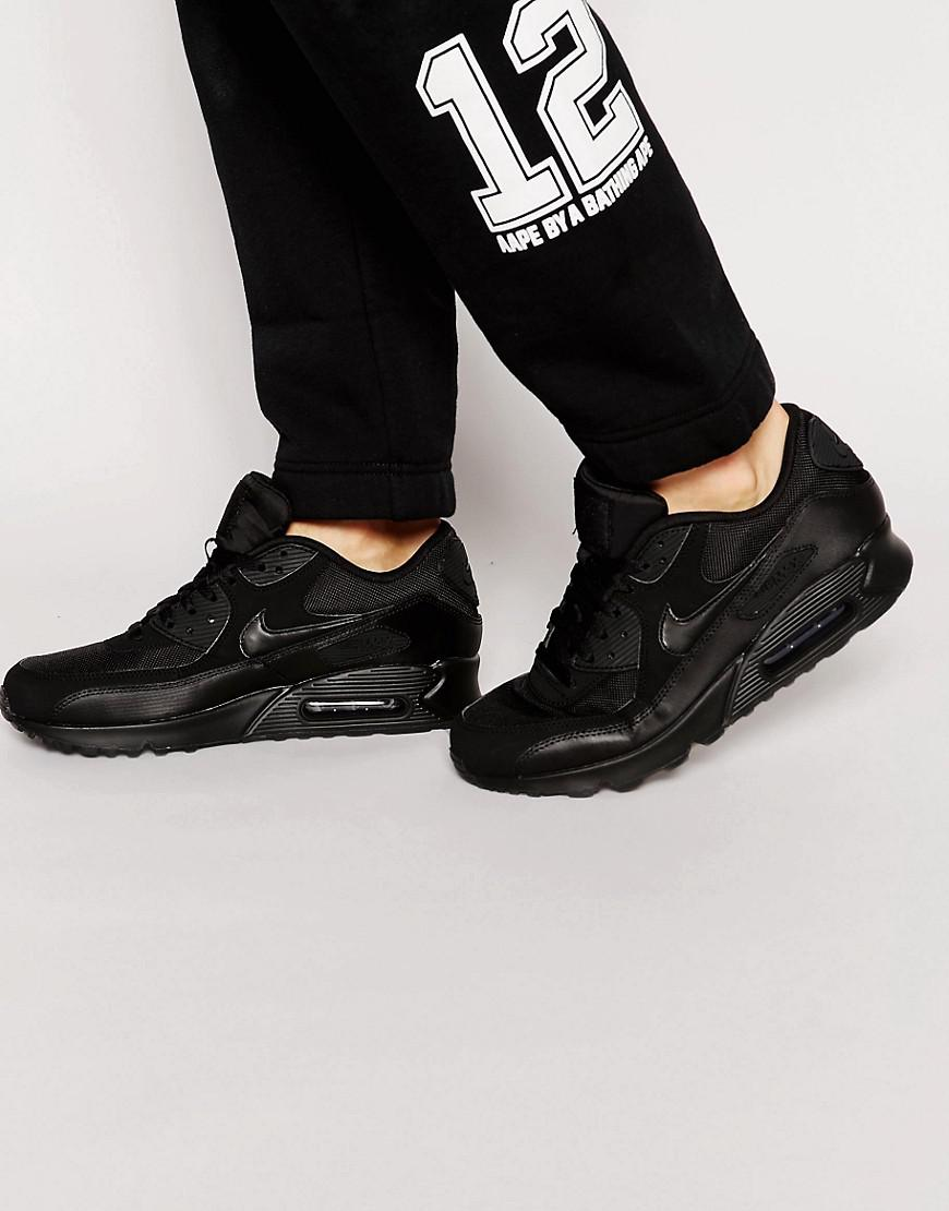 sports shoes 6e9ab 819d8 Nike. Men s Air Max 90 Essential Trainers In Black ...