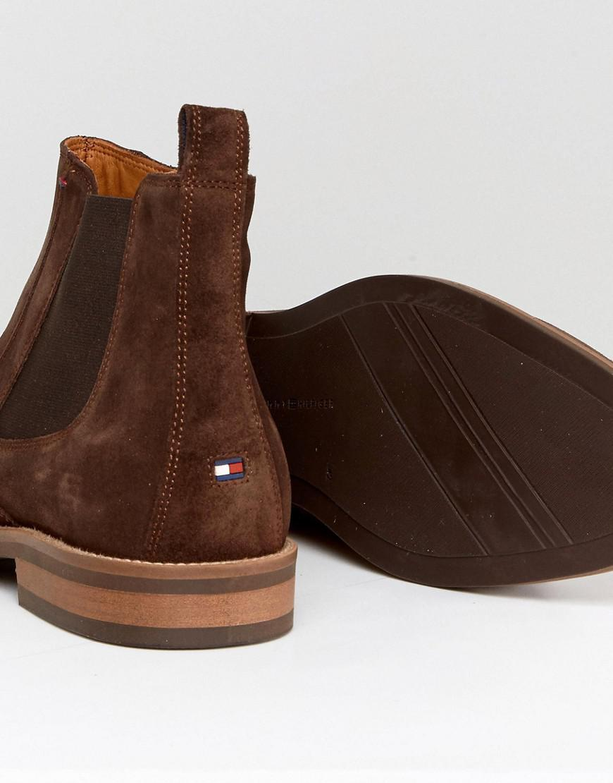 Tommy Hilfiger Daytona Chelsea Boots Suede In Brown For