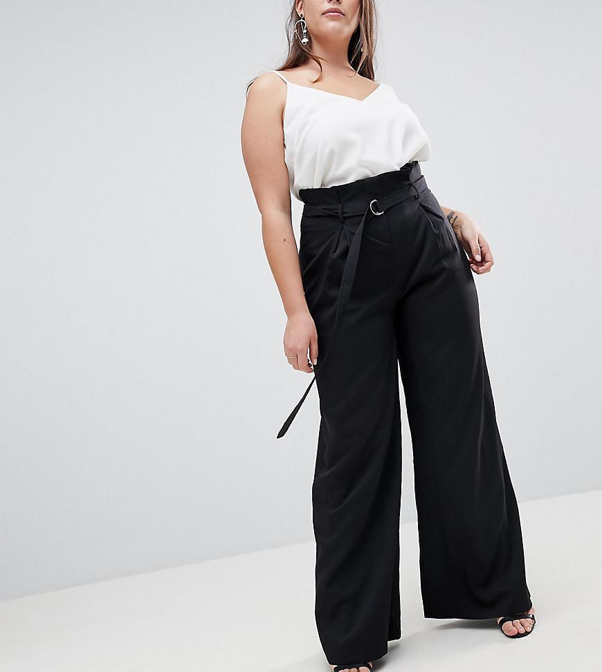 Missguided Pantalon Taille Lyst Avec Fronce Ceinture Haute En dWxBeQCroE