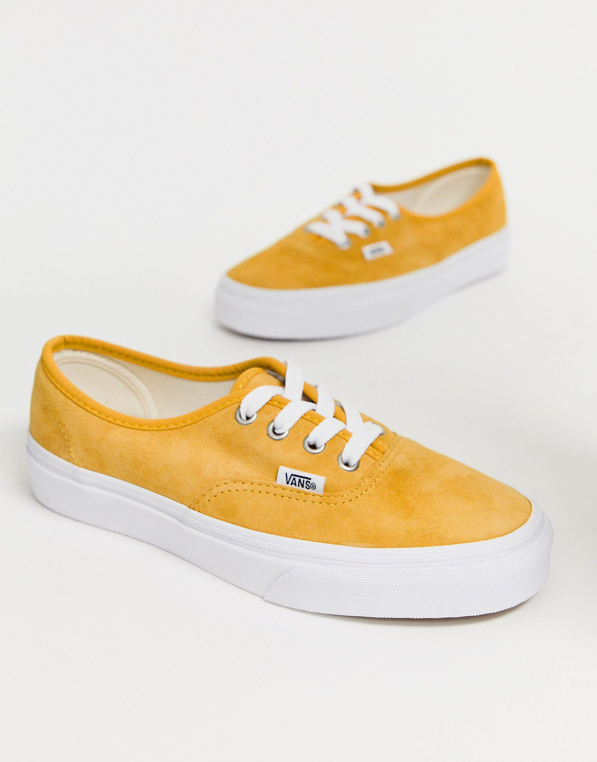 Vans Authentic Mustard Suede Trainers