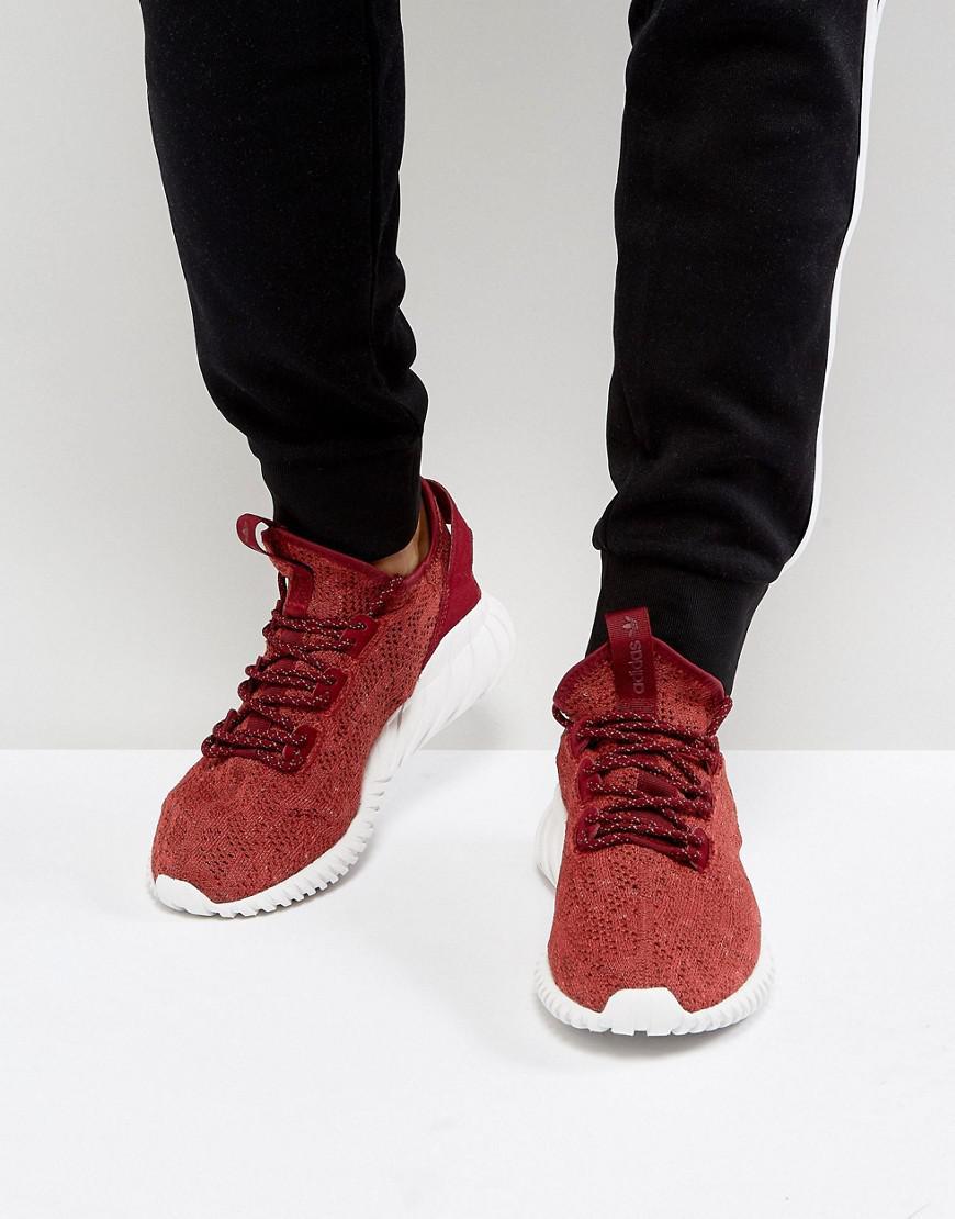 timeless design 51e45 d3662 Adidas Originals - Tubular Doom Sock Primeknit Sneakers In Red By3560 for  Men - Lyst