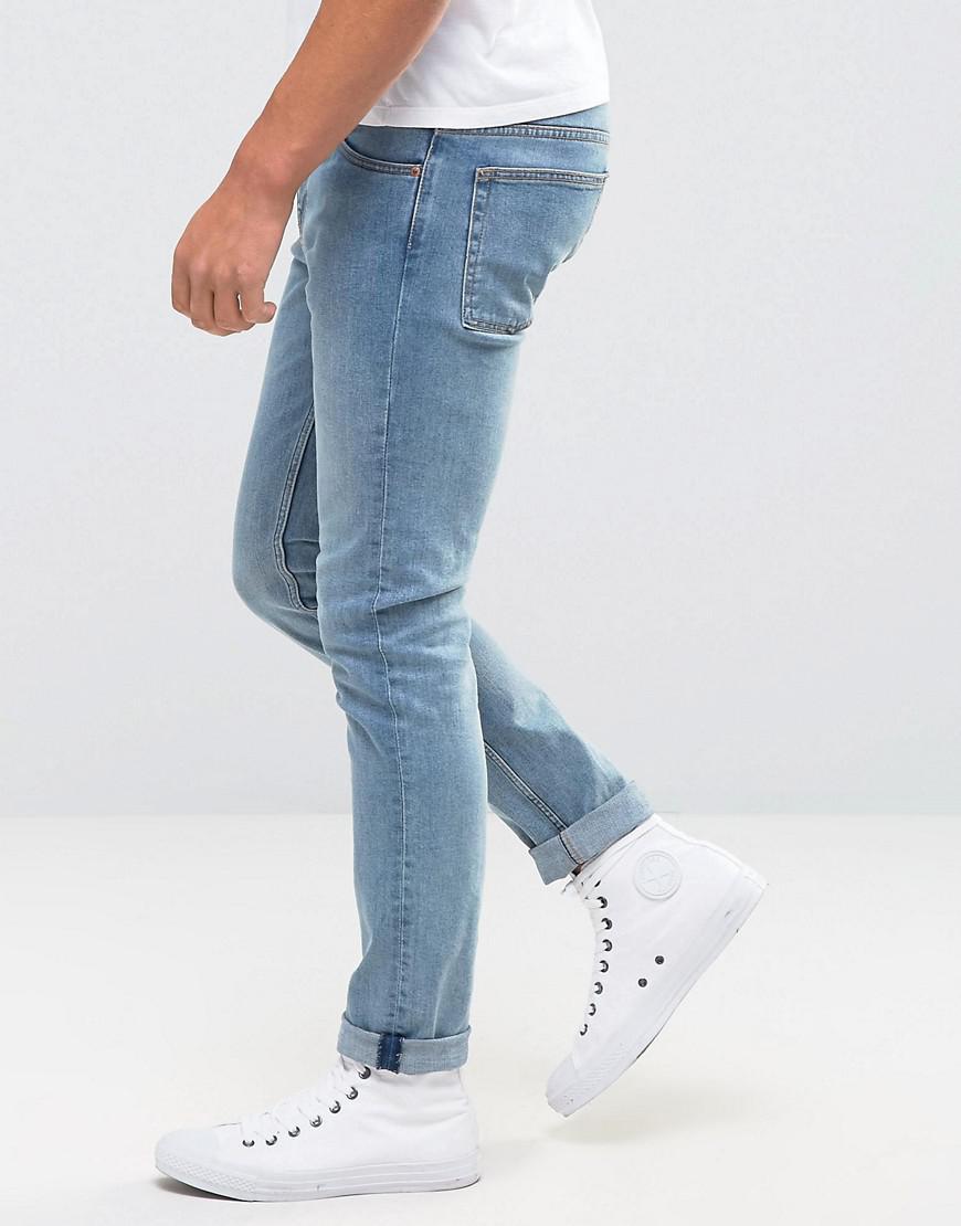 Weekday Denim Friday Skinny Jeans Instant Blue for Men