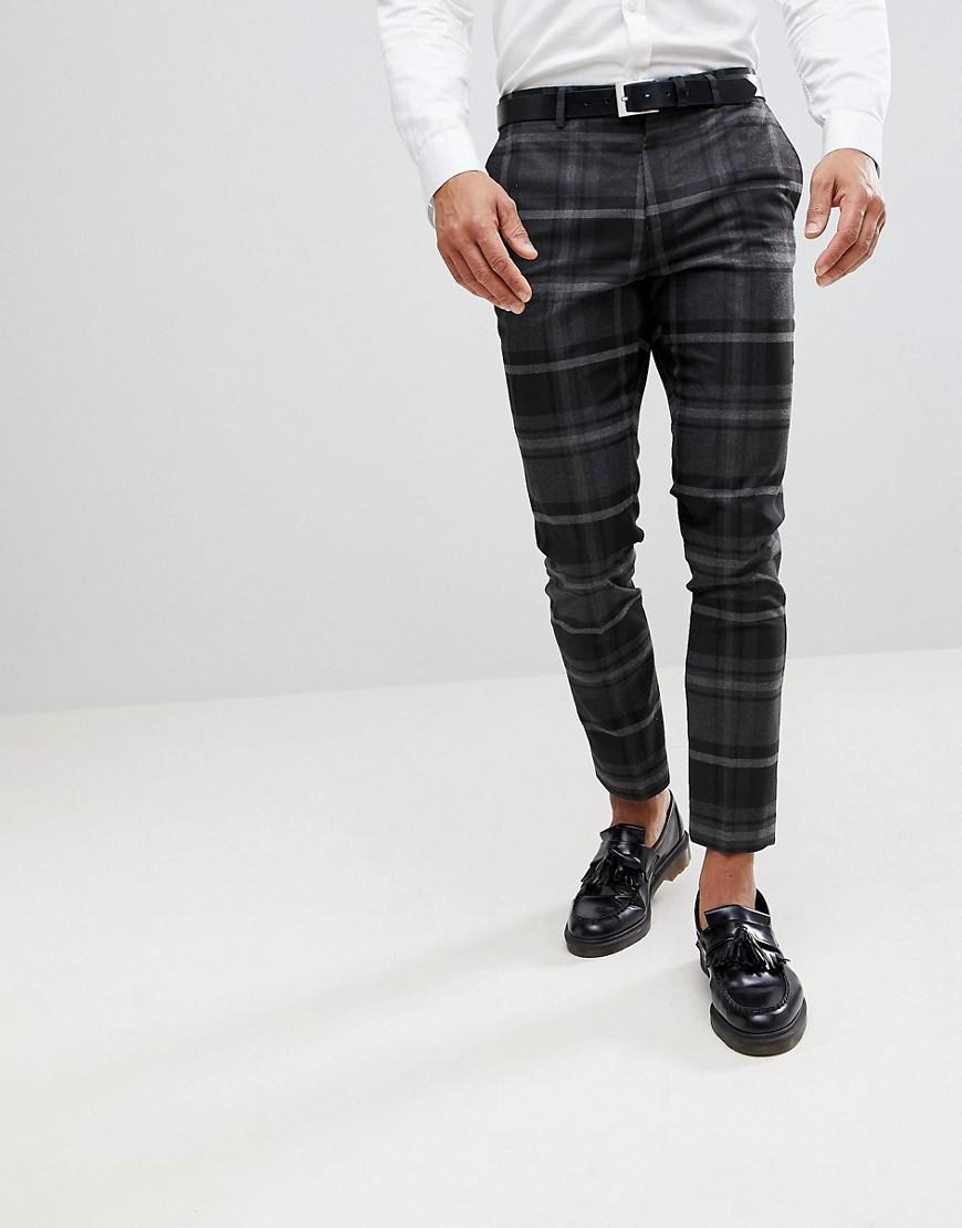 Pantalon skinny habill carreaux