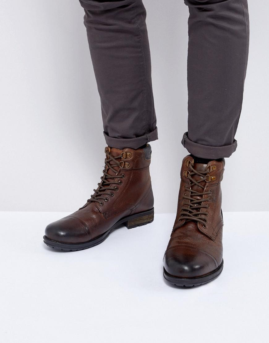 fbbf03a4101 Kurt Geiger Brown Rayn Lace Up Boots In Tan for men