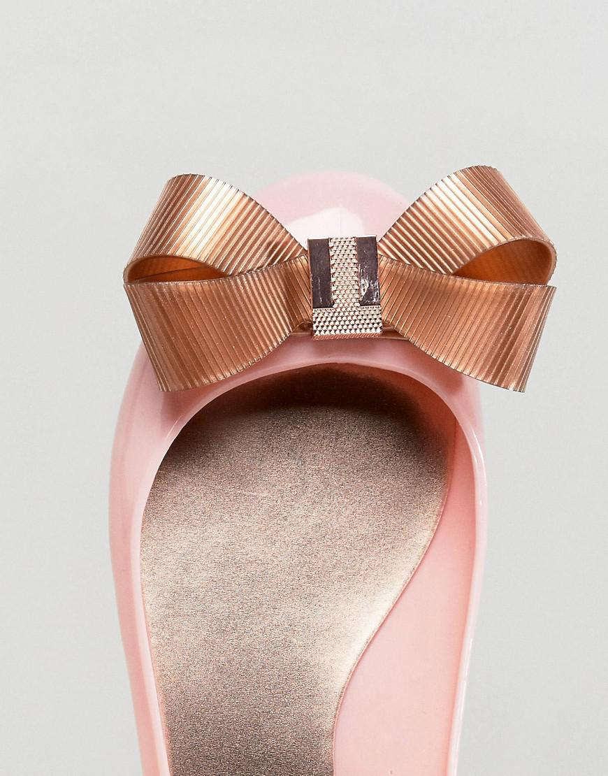 e61ac3b672c5 Lyst - Ted Baker Larmiar Pink And Rose Gold Ballet Flats in Pink